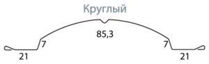 штакетник гранд Лайн круглый фигурный