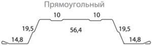 Штакетник Гранд Лайн прямоуголный